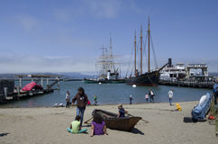 El muelle del pescador de la costa Fotografía de archivo libre de regalías