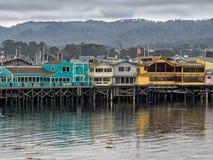El muelle del pescador de Monterey, California Fotos de archivo