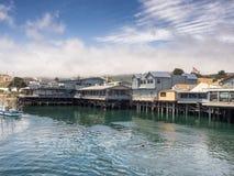 El muelle del pescador de Monterey, California Fotos de archivo libres de regalías