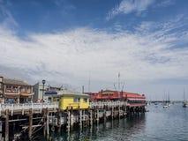 El muelle del pescador de Monterey, California Imagen de archivo libre de regalías