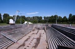El muelle seco más viejo todavía que trabaja en Holanda Imagenes de archivo