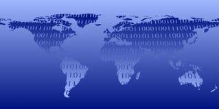 El mundo - azul y blanco imagen de archivo