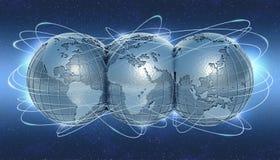 El mundo conectado Imagen de archivo