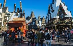 El mundo de Wizarding de Harry Potter en los estudios universales Japón imágenes de archivo libres de regalías
