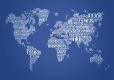 El mundo del establecimiento de una red social