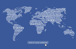 El mundo del establecimiento de una red social 2 Fotos de archivo libres de regalías