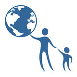 El mundo del niño protege símbolo Imágenes de archivo libres de regalías