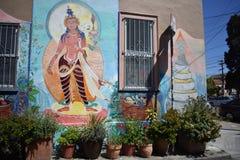 El mundo del ` s de San Francisco reconoció los murales balsámicos del callejón, 2 Imagen de archivo