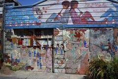 El mundo del ` s de San Francisco reconoció los murales balsámicos del callejón, 5 Imagen de archivo