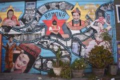 El mundo del ` s de San Francisco reconoció los murales balsámicos del callejón, 6 Fotos de archivo