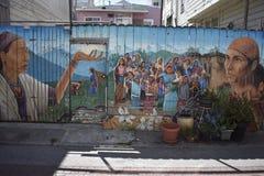 El mundo del ` s de San Francisco reconoció los murales balsámicos del callejón, 40 Imagenes de archivo