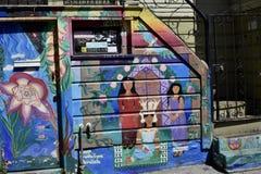 El mundo del ` s de San Francisco reconoció los murales balsámicos del callejón, 41 Fotos de archivo libres de regalías