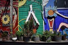 El mundo del ` s de San Francisco reconoció los murales balsámicos del callejón, 43 Fotos de archivo