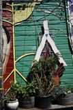 El mundo del ` s de San Francisco reconoció los murales balsámicos del callejón, 44 Foto de archivo