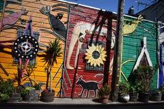 El mundo del ` s de San Francisco reconoció los murales balsámicos del callejón, 45 Foto de archivo libre de regalías