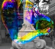 El mundo dentro de una burbuja Foto de archivo