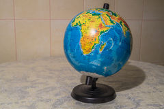 El mundo en el globo Fotografía de archivo libre de regalías