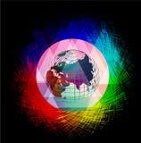 El mundo en seguridad Ilustración del Vector