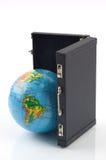 El mundo en su maleta imágenes de archivo libres de regalías
