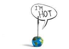 El mundo es caliente Foto de archivo