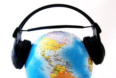El mundo es listenig Imagen de archivo libre de regalías