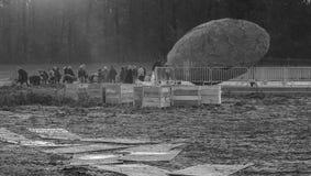 El mundo que viene me recuerda - el desmontar en curso - WW1 - Zillebeke foto de archivo
