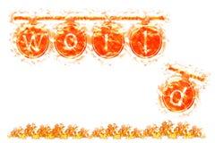 El mundo quema lentamente bandera ilustración del vector