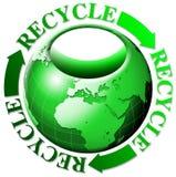 El mundo recicla bolsos Fotos de archivo