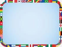 El mundo señala el marco por medio de una bandera Fotografía de archivo libre de regalías