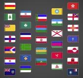 El mundo señala la colección por medio de una bandera, otras, parte 2 Foto de archivo