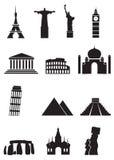 El mundo ve los iconos fijados Fotografía de archivo libre de regalías
