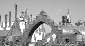 El mundo wizarding de Harry Potter en los estudios universales Imagen de archivo
