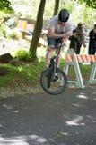 EL MUNICIPIO DE RADNOR, PA - 7 DE MAYO: Funcionamiento del truco de BMX de Chris Aceto en el rodeo de la bici del municipio de Ra Fotos de archivo libres de regalías