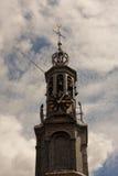 El Munttoren (torre de la moneda) en estilo el renacimiento en Amsterdam Imagen de archivo