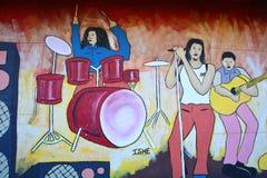 El mural cuenta la historia de Swakopmund Fotos de archivo libres de regalías