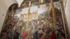 El mural de la crucifixión metrajes