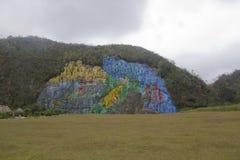 EL mural de la prehistoria fotografia stock libera da diritti