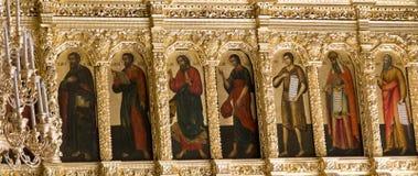 El mural en la abadía del sergei de Sam, Federación Rusa Foto de archivo