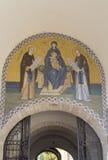 El mural en la abadía del sergei de Sam, Federación Rusa Imagenes de archivo