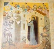 El mural en la abadía del sergei de Sam, Federación Rusa Foto de archivo libre de regalías