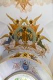 El mural en la abadía del sergei de Sam, Federación Rusa Fotografía de archivo libre de regalías