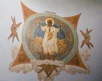 El mural en la abadía del sergei de Sam, Federación Rusa Fotos de archivo libres de regalías