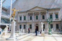 El museo de arte metropolitano situado en New York City, es el museo de arte más grande de los Estados Unidos y del que está de l foto de archivo
