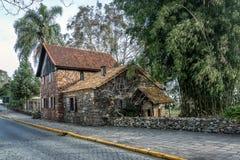 El museo de Casa de Pedra - casa de piedra del siglo XIX - Caxias hace Sul, Río Grande del Sur Fotografía de archivo