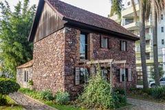 El museo de Casa de Pedra - casa de piedra del siglo XIX - Caxias hace Sul, Río Grande del Sur Fotos de archivo libres de regalías