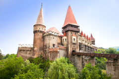 El museo de Hunyad. Castillo del renacimiento en Hunedoara, Rumania Fotografía de archivo libre de regalías