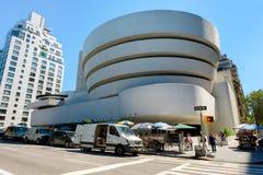 El museo de Solomon R Guggenheim en New York City Imagen de archivo