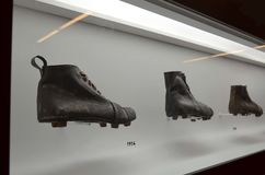 El museo del fútbol es un espacio dedicado a los diversos temas que implican la práctica, la historia y el cur, Sao Paulo, Brazi imágenes de archivo libres de regalías