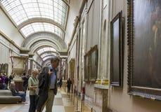 El museo del Louvre Imagen de archivo