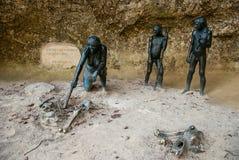 El museo del neanderthal de Krapina Foto de archivo